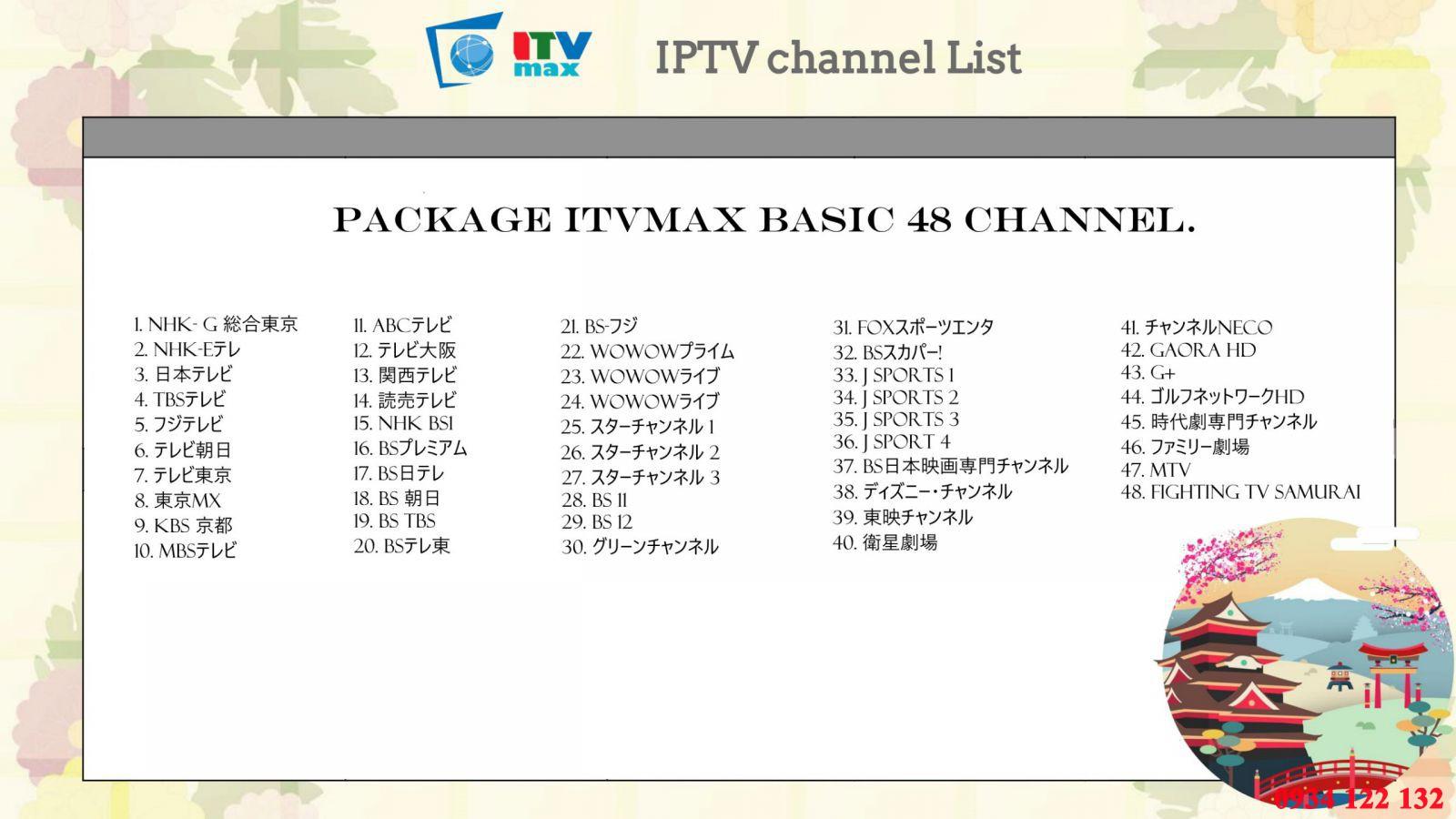 lắp kênh truyền hình nhật bản